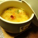 さわ栄 - 茶碗蒸し(海老、鶏、銀杏)