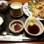 銚釐庵 - 鶏の唐揚定食