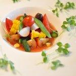 Oh! la Vache - 染谷さn家の無農薬トマトのサラダ仕立て