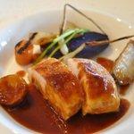Oh! la Vache - 岩手県産味鶏低温焼き 季節の野菜添え