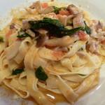 Oro Osteria - 地鶏とキノコのアーリオオーリオ