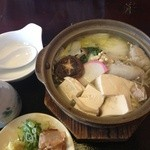 そば処 そば扇 - 蕎麦がき湯豆腐