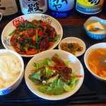16517323 - 梅山豚(めいしゃんとん)レバーと野菜の醤油炒め