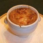 ラ・メール - 熱々オニオングラタンスープ めっちゃ 美味しいで~^^