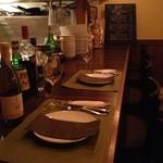 イタリア料理ゴローゾテツ - カウンター席はライブ感あり