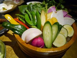 もも吉 - 【川田農園さんの野菜刺し盛り】¥650