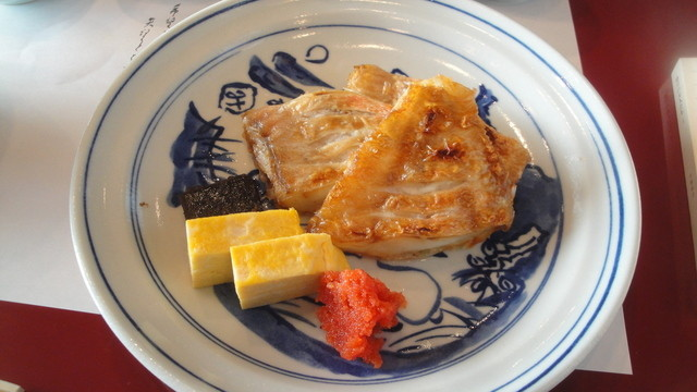 貴舟 - 2012.12.25)焼魚定食(1200円)の赤魚鯛
