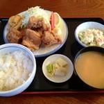 ひじり - 料理写真:から揚げランチ大盛り:650円