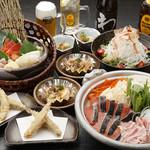 海へ - 料理写真:銀聖の石狩鍋コース【飲放付4000円】