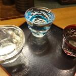 魯仁庵 - 季節の日本酒3種類 利き酒セット:800円
