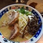 らーめん大 - 博多とんこつらーめん(細麺) & 半豚骨カレーライス