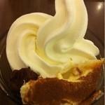 オッティモ イタリア - ソフトクリームに生チョコとティラミスのトッピング♬