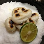 寿司 割烹 浪花 - ふぐの白子焼き