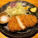 勝烈亭 - 2012.11 厚揚げ六白黒豚ロースかつ膳(180g2,520円)