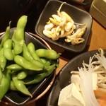 しゃぶしゃぶ温野菜 - うずら煮卵&ピーナッツもやし&枝豆