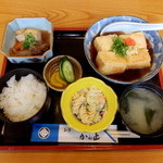 Kaneshou - あげ出し豆腐定食 980円
