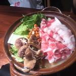 16547337 - 黒豚きのこ鍋(1,980円×2人前)