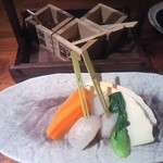 16547341 - 茹で野菜(味噌、600円)