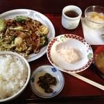 中国料理 羅生門 - ホイコーロー定食(1050円)