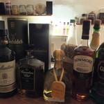 シーシャカフェ カンノーク - ウィスキー、テキーラの種類が豊富