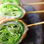 串膳 - 料理写真:シャッキっとレタス巻き