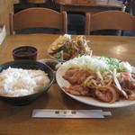 キッチン桑の樹 - ジャンボ生姜焼定食(1500円)