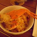 六本木農園 - せいこ蟹の炊き込み土鍋ごはん (お味噌汁・お漬もの付)                                        1合¥2,100/2合¥3,300/3合¥4,500