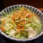 かよう亭 - お通しのサラダ