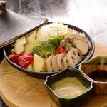 こんちわ - 旬野菜のタジン鍋…580円