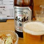 16560347 - ビールとお通しのメンマ