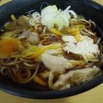 湾岸そば - (2012/11月)「柚子香るきのこと鶏肉の蕎麦」