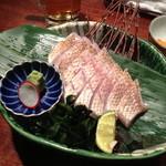 いろり - 喉黒焼霜刺身980円