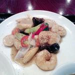 香巷菜 松楽 - 2012年12月28日のCランチ エビと野菜のブラックペッパー炒め790円