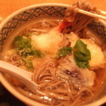 つるきそば - 天ぷら蕎麦。大きな海老さんが・・やったぁ~!