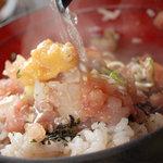 ふじいち - 料理写真:【ネゴめし】熱々の出汁をかけて