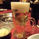 もつ彦 - 生ビール