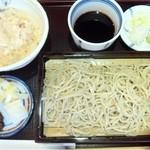 16572697 - そば定食(せいろ&とろろごはん&漬物)1,200円