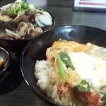 16577921 - 天丼とあさり汁