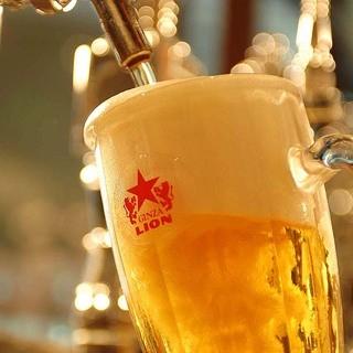 120年伝統のライオン生ビールを9種類ラインナップ♪