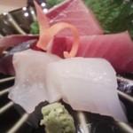 16580973 - 天然ぶり(京都)・しめさば(氷見)・平目(青森)・あおりいか(三重)