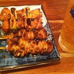 芝松 - 焼き鳥 タレ(ネギマ、鶏皮)