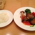 ポモドーロ - ディナーコース(2380円)※魚のグリルとライス
