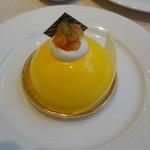 リンタロウ カフェ - ケーキセット(1100円)のオレンジムース