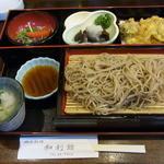 16593838 - 天然きのこと天ぷらそばセット、1,100円