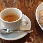 BISTRO FAVORI - 2012/12 ドリンク(シングルオリジンコーヒー、エスプレッソ、カフェラテ(+150円)、紅茶 アールグレイ、オレンジジュースから一つ選択)付