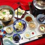 和食処 はらだ - 料理写真:ハラダの夏の名物 鱧のミニ会席膳です。 はらだ オリジナル はもしゃぶ鍋 はも釜飯をご賞味ください。