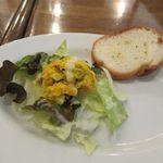 Cafe*RINO - 日替わりサラダ+ガーリックトースト