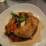 マース・マース - 鶏のコンフィ ラタトゥイユ添え