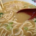 天下一品 - スープのトロミ油では無く片栗粉なのか?