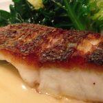 ヨシズハイ - 千葉県産スズキのソテー、帆立バターソースと季節野菜を添えて